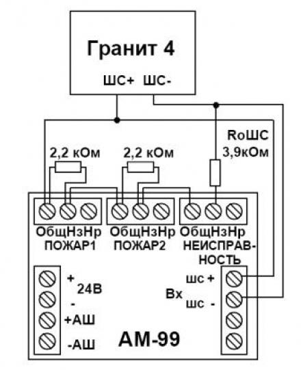 Подключение адресного модуля